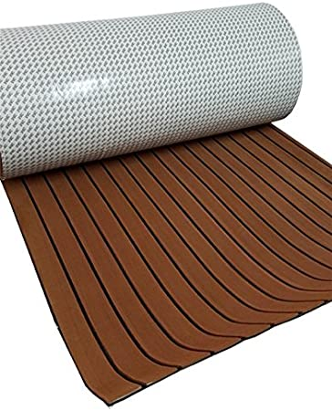 CHURERSHINING EVA Foam Decking Sheet for Boat Yacht Marine Floor Carpet with Self Adhesive Non-Slippery 94.5/×35.4 Solid Color