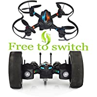 SOWOFA COOL ! S18 DIY Fly Deformation RC Stunt Car and Quadcopter Drone Air and Land 2 In 1 with 3D Flips & Rolls & Height Hold & Led