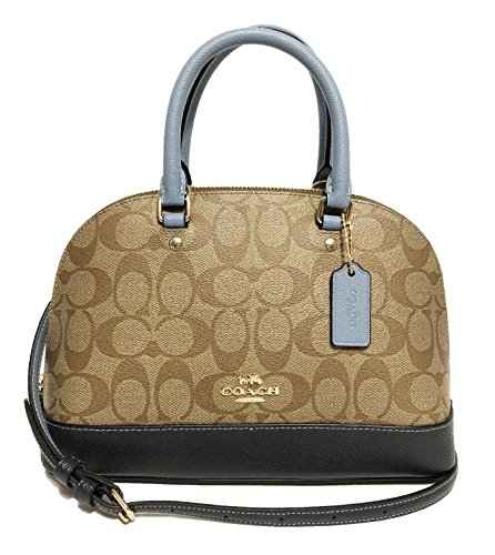 Midnight Khaki Sierra Women��s Mini Shoulder Coach Handbag Inclined Shoulder Satchel Purse z4YZfv