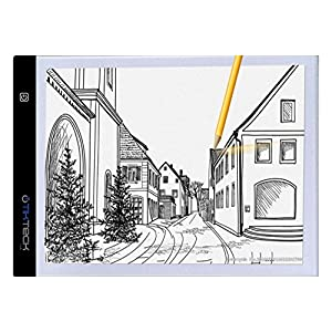 A4 Ultra-thin Portable LED Light Box tracer USB Power LED Artcraft Tracing Light Pad Light Box for Artists,Drawing, Sketching, Animation.