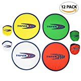 ArtCreativity Folding Pocket Frisbee Set (12 Pack) | Foldable Frisbees for Kids and Adults | Colorful Flying Disc Toys | Fun Birthday Party Favors for Boys and Girls/Summer Outdoor Activity Game