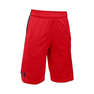 Under Armour Boys' Eliminator Shorts, Red/Black, Youth Small