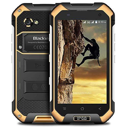Blackview BV6000s 3G Rugged Unlocked Cell Phones IP68 Waterproof Dustproof Shockproof - 4500mAh Battery 3G Rugged Outdoor Smartphone PTT SOS 2GB RAM + 16GB ROM|Compass|GPS|GLONASS|NFC - Yellow (Rugged Phone Mobile)