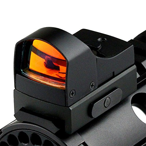(360 Tactical Mini Reflex Sight for Pistol Red Dot - AR Mini Red Dot Sight Micro Reflex Sight With Adjustable Brightness Level)