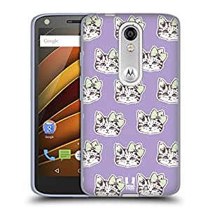 Head Case Designs Cat Faces Whimsical Kittens Soft Gel Case for Motorola Moto X Style / Pure