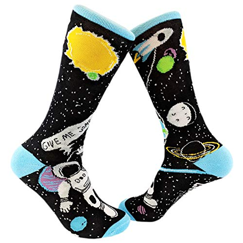Give Me Some Space Sock Funny Astronaut Footwear