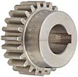 Boston Gear NA32-3/8 Spur Gear, 14.5 Pressure Angle, Steel, Inch, 20 Pitch, 0.375
