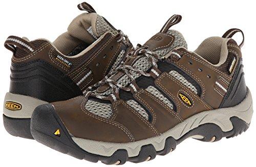 51OjvKW8jVL - KEEN Women's Koven Waterproof Hiking Shoe, Raven/Hot Coral, 6 M US