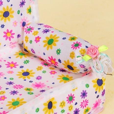 QHGstore Puppen Sized Möbel Blume drucken Sofa Couch  Amazon.de  Spielzeug 96bc3e0df4
