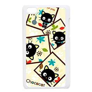 Custom Your Own Personalized Cute Kitten Cat Ipod Touch 4 Case, Snap On Hard Protective Chococat Ipod 4 Case Cover