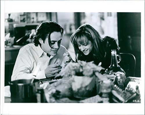 Vintage photo of Robert Downey Jr. and Holly Hunter in a scene from