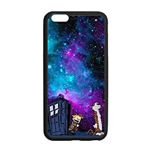 Calvin And Hobbes Galaxy Nebula Tardis Custom Durable Hard Cover Case for iPhone 6 - 4.7 inches case - Black Case by mcsharks