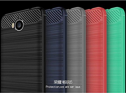 Funda Huawei Honor Enjoy6,Funda Fibra de carbono Alta Calidad Anti-Rasguño y Resistente Huellas Dactilares Totalmente Protectora Caso de Cuero Cover Case Adecuado para el Huawei Honor Enjoy6 E