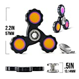 Precision Fidget Spinner By Infinite Spin - High Speed Hybrid Bearings: Perfect for ADHD, Stress Relief, Focus, Concentration, And Quitting Bad Habits: 2 To 5 Minute Spin Times: EDC (Black)