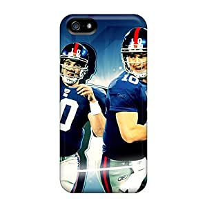 Shock-Absorbing Hard Phone Cover For Iphone 5/5s (CQV13459tBeS) Unique Design Attractive New York Giants Pattern