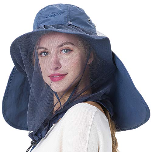 7676a3a001d35f 1 · Palmyth Mosquito Head Net Hat Safari Hiking Fishing Hats Sun Protection  Water Repellent Bucket Boonie Hats