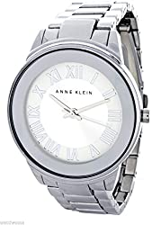 Anne Klein Women's Silver Dial Silver Band Quartz Watch AK/1755SVSV