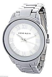 Anne Klein Women's Silver Dial Silver Band Quartz Watch AK/1755SVSV