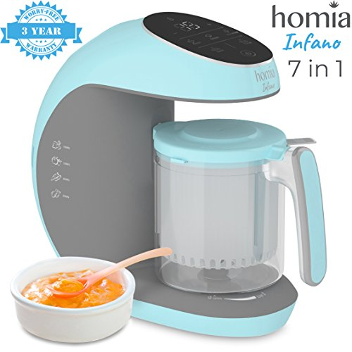 Baby Food Processor Chopper Mills Grinder and Steamer 7 in 1 Food Maker For Toddlers With Steam, Blend, Chop, Disinfect, Clean Function, 20 Oz Tritan Stirring Cup, Touch Control Panel, Auto Shut-Off