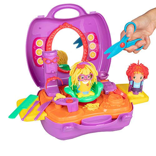 Crayola Modeling Dough Set - 25 Piece Mobile Salon Activity Pack - Comes with 2 Packs of Dough, Molds and Hair Accessories.