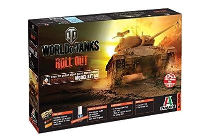 Italeri 36504 World of Tanks WoT M24 Chaffee Tank Plastic Model Kit