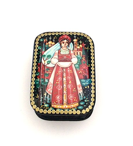 Russian Lacquer Hand Painted (Russian lacquer box Palekh Hand painted