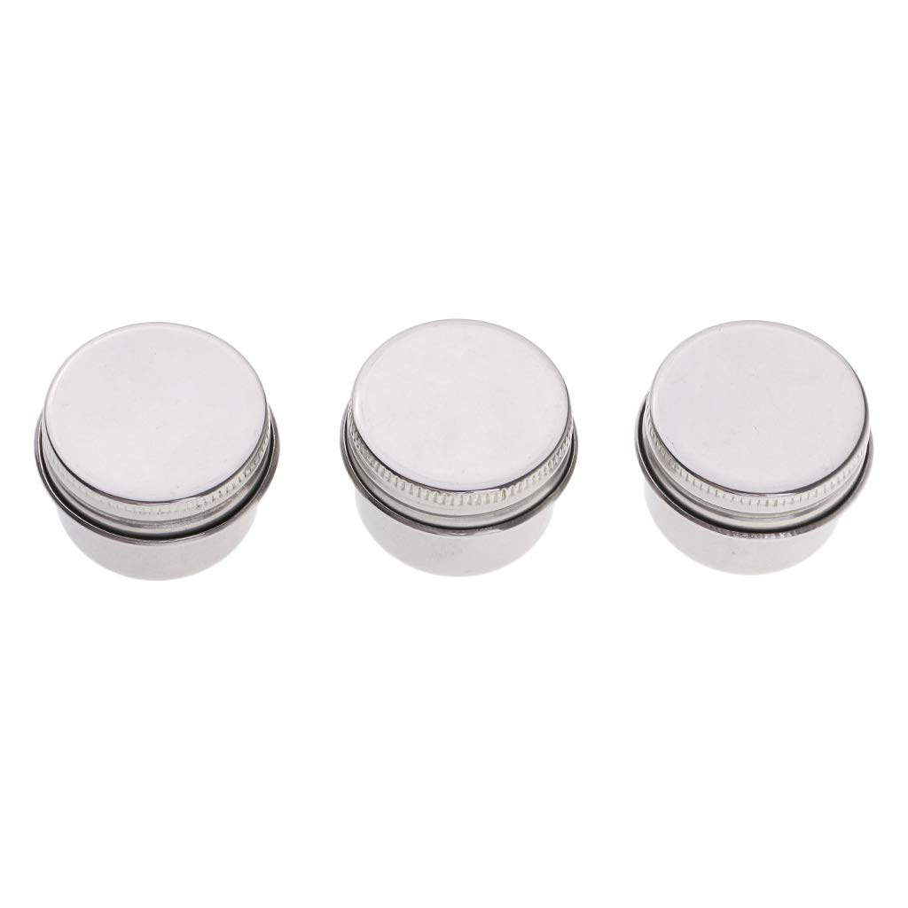 3 Piece Single Dipper Palette Cups Stainless Steel Palettes Container Cup with Clip and Lid fit for Drawing