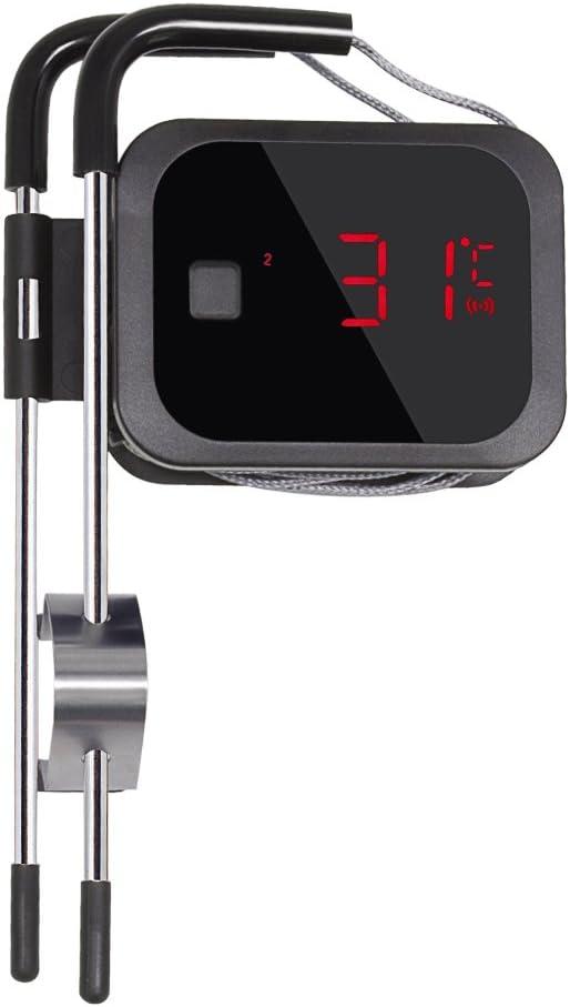 Inkbird IBT-2X Termometro Digitale Bluetooth con Sonda in Acciaio per Uso Alimentare per Barbecue 1 Sonda Forno e Frittura Barbecue Termometro Grigliate