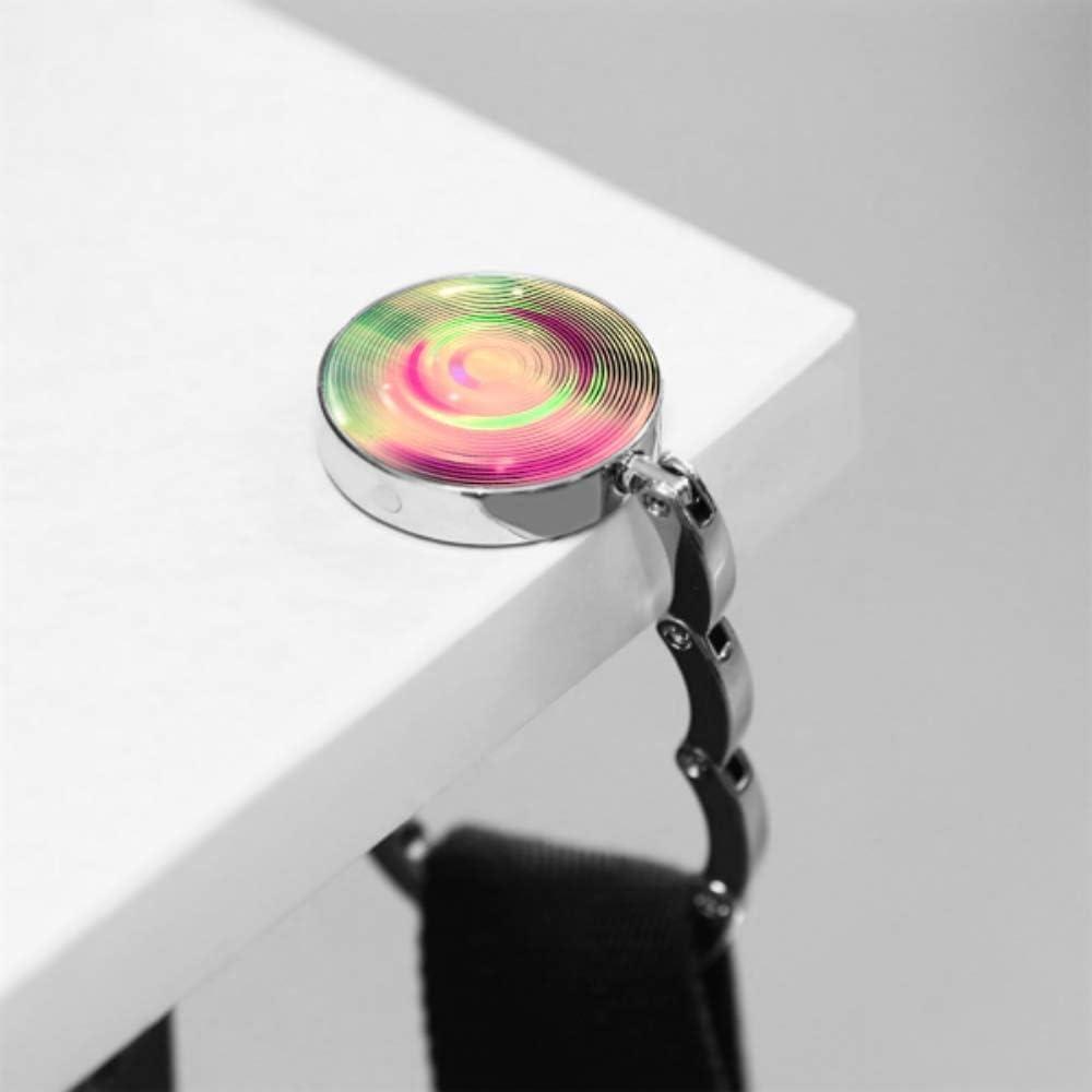 Abstrakte rosa Hintergrundkreuzungskreise Disco Faltbare Handtaschenhaken Geldb/örse Haken Kleiderb/ügelhalter f/ür Autotisch