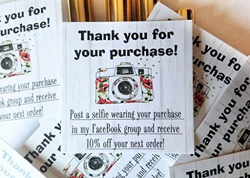 Post A Selfie Cards for Direct Sales Packages | Package of 50 | MLM LipSense by SeneGence, LuLaRoe, Paparazzi, Younique, Avon, Mary Kay | Post A Selfie In My FaceBook Group for 10% off your next order