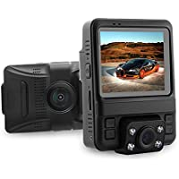 Azdome New GS65H Dash Cam, Car Recorder Dashboard DVR Camera with Full HD 1080P 2.4 LCD Novatek 96655 Night Vision(Not Support GPS-New GS65H)