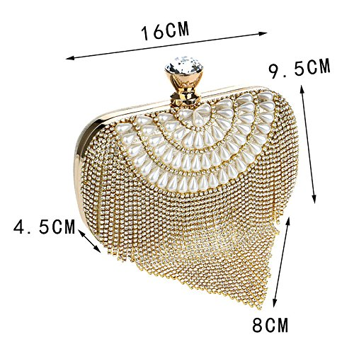 Sparkly Sacchetto Sera Borsa Red Da Crystal Diamond Sposa Da Clutch Borsa Nappa Pochette Ladies Della 0wp5PH