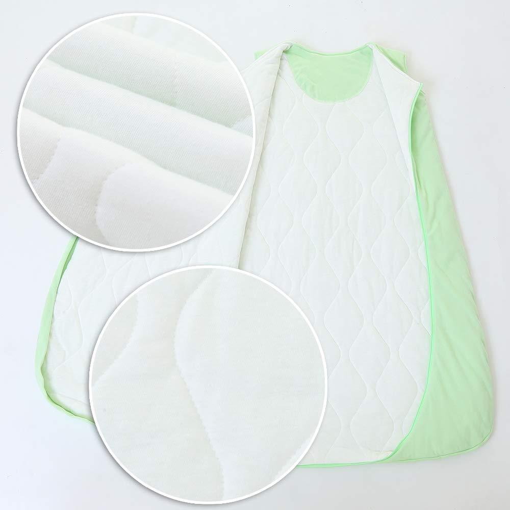 in Cotone 2,5 tog Verde per Neonati schlabigu Sacco Nanna Invernale Verde Verde 90CM//6-18Monate Gufo e Stella