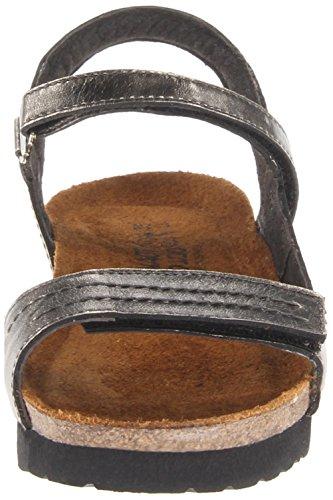 Naot Damen Schuhe Sandaletten Madison Leder schwarz hellgold metallic 11750