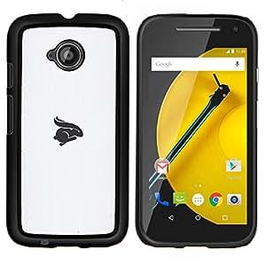 LECELL--Funda protectora / Cubierta / Piel For Motorola Moto E2 E2nd Gen -- símbolo del conejo --