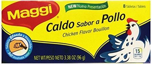Chicken Recipes Bouillon (Maggi Chicken Bullion (Caldo Sabor a Pollo), 8 cubes (4 Pack))