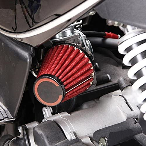 Air Filters INNOGLOW Universal Air Filters 42mm Red for Honda CB ...
