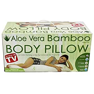 Amazon.com: As Seen on TV Aloe Vera Bamboo Body Pillow with Pressure Relieving Memory Foam ...