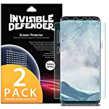 (US) Galaxy S8 Plus Screen Protector, Invisible Defender [Full Coverage][Updated Version] Flexible Edge to Edge Wing Coverage [Case Friendly] HD Transparent Film for Samsung Galaxy S8 Plus