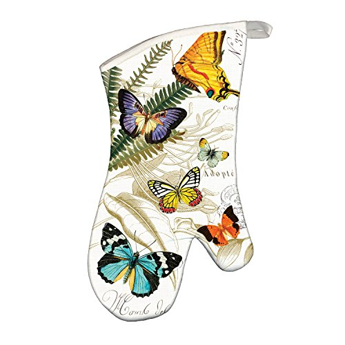 Michel Design Works Padded Cotton Oven Mitt, Papillon ()