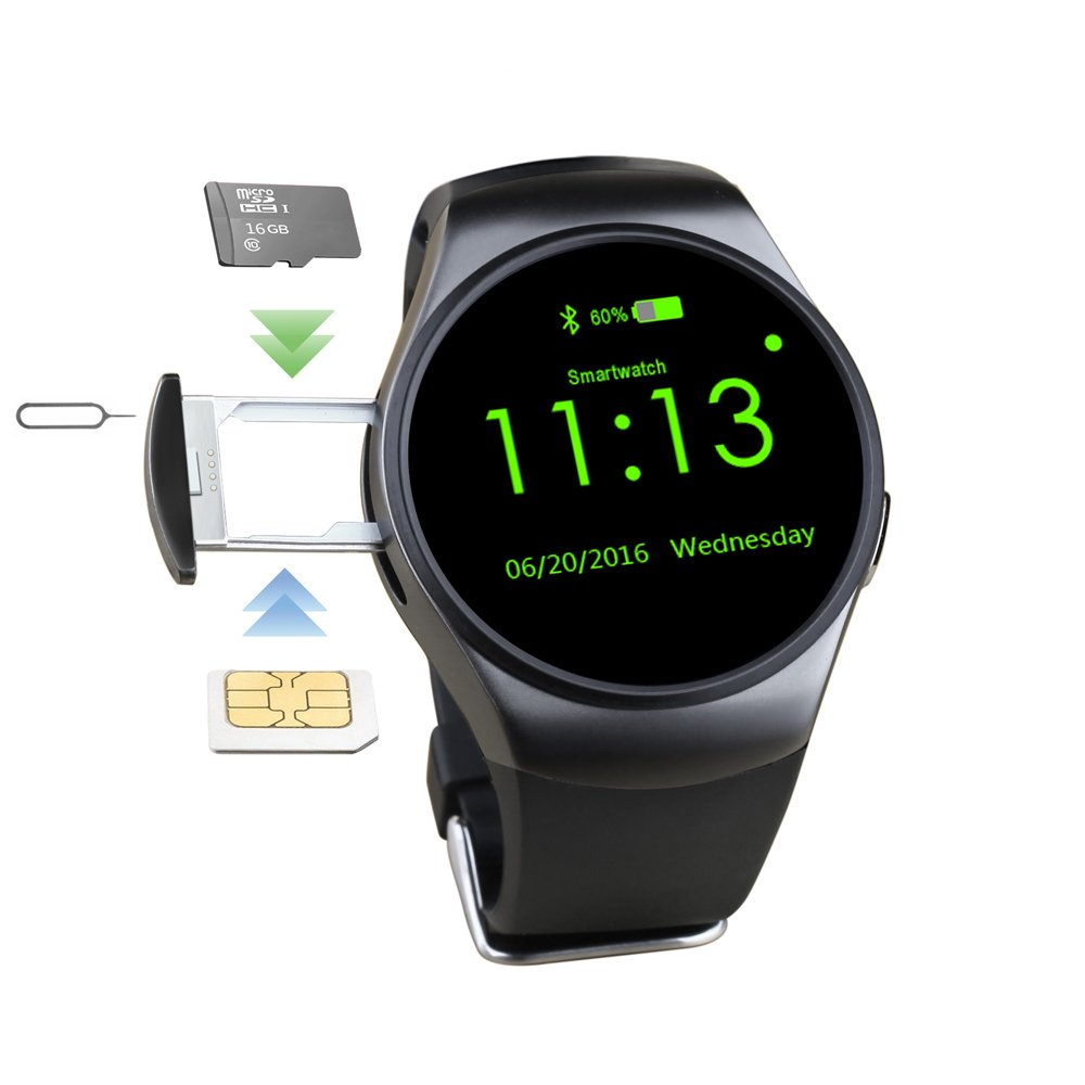 KW18 Bluetooth Smart Watch with Touch Screen and Heart Rate ...