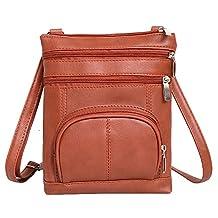 ilishop PU Leather Multi-Pocket Crossbody Purse Bag