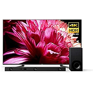 Sony X950G 55 Inch TV: 4K Ultra HD Smart LED TV with HDR - Z9F 3.1ch Dolby Atmos Sound Bar and HT-Z9F Wireless Subwoofer - 2019 Model