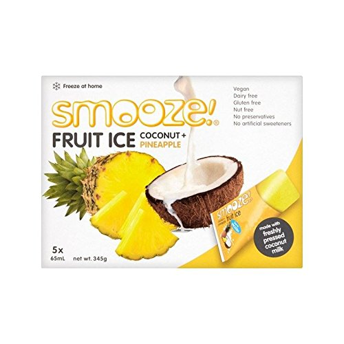 Smooze Pineapple Fruit Ice Lollies 5 x 65ml - Pack of 2