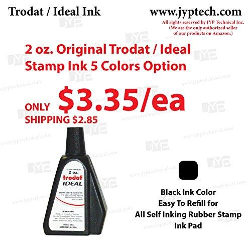 2 oz. Trodat / Ideal Stamp Ink 5 Colors Option (Black Ink)