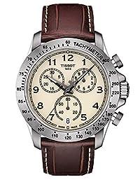Tissot V8 Ivory Dial Mens Chronograph Watch T106.417.16.262.00