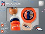 NFL  Denver Broncos Baby Rattle Set – 2 Pack