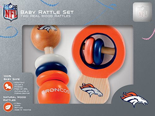 - NFL  Denver Broncos Baby Rattle Set - 2 Pack