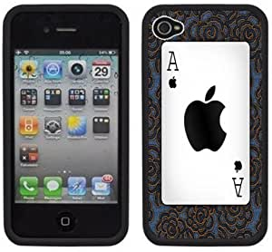 Ace of Spades Handmade iPhone 4 4S Black Hard Plastic Case