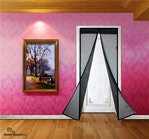 UPC 635682612427, # 1 Best Selling Magnetic Screen Door: Velcro SEWN Around ENTIRE Frame (Black)